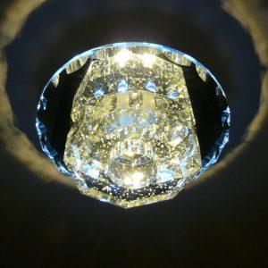 水晶 LED 壁燈 - 夜光水晶罩