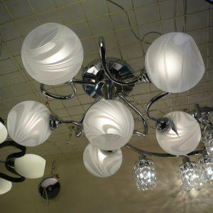 6頭 彎管造形現代吸頂燈 客廳燈