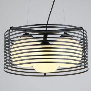 現代圓形簡約黑色 吊燈