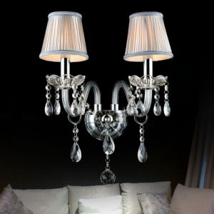 傳統蠟燭水晶壁燈 多色可選