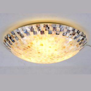 天然貝殼片吸頂燈 房燈