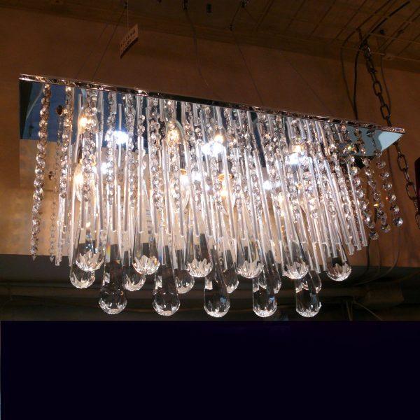 節能高光LED 長方 水晶吊燈