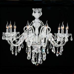10頭水晶蠟燭燈