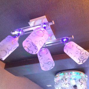 4頭現代鋁材LED效果 方形吸頂燈