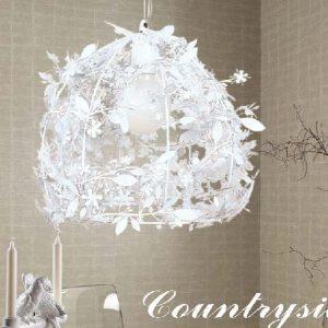 白色花卉造型設計吊燈