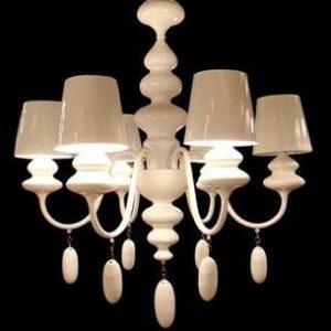 白色 設計簡約 蠟燭吊燈