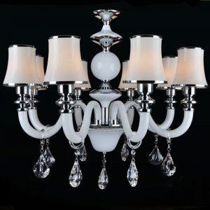 白色 簡約水晶吊燈