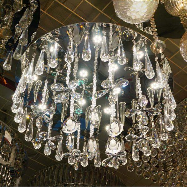 現代簡約 LED 水晶吸頂燈