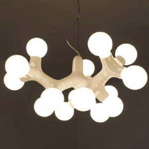 意大利簡約風格 白色 波波吊燈