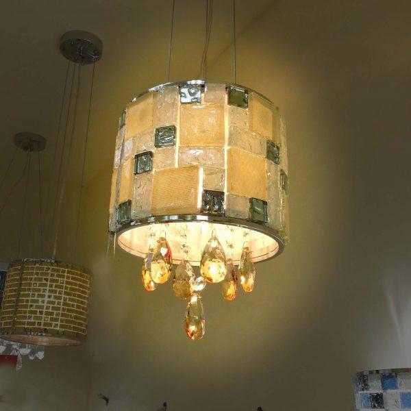 馬賽克玻璃罩 風格 現代水晶 小吊燈