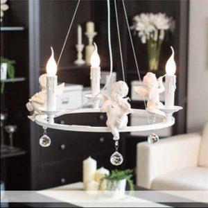 白色聖誕報喜設計吊燈