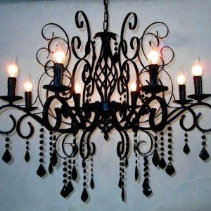 黑色 蠟燭水晶燈 3頭 6頭可選