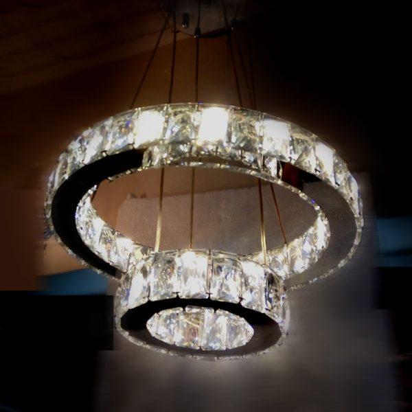 新款LED 遙控調光調色 水晶吊燈