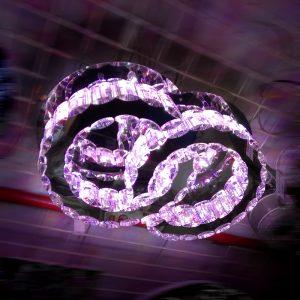 新款LED 多色漸變 水晶吸頂燈