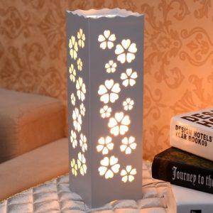 日式 方形 雕刻花紋台燈 多款式可選