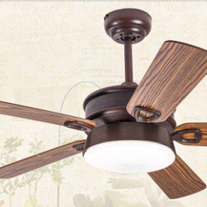 簡單古典 雙面木葉扇 LED 5葉風扇燈