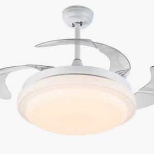 最抵特價款$1280白色隱形風扇燈 LED遙控 36吋/42吋可選 包送貨裝燈