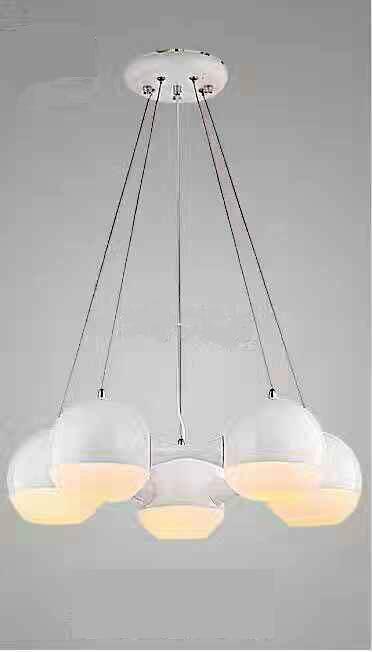 白色5頭現代吊燈