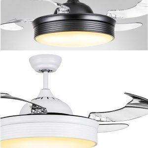 隱形風扇燈 簡約純色 LED42吋吊扇 黑/白/金3色可選