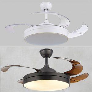隱形風扇燈 超薄純色 LED42吋吊扇 黑/白色可選