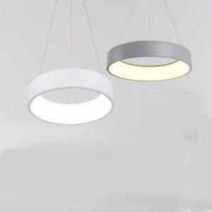 現代簡約圓形LED 吊燈 黑/白/灰3色可選