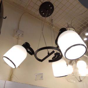 簡約黑色3頭吊燈  可調角度燈罩