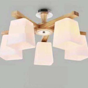 現代木製燈吸頂燈 5頭