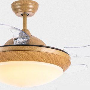 隱形風扇燈 LED 天然木紋色36吋/42吋吊扇