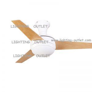 低樓底專用吸頂款式 總高37cm 木葉風扇燈吊扇