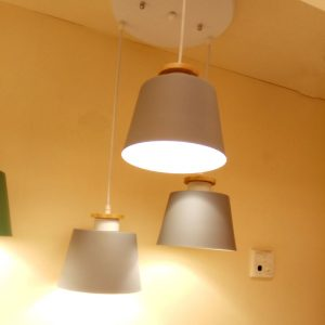 3頭簡約灰色吊燈