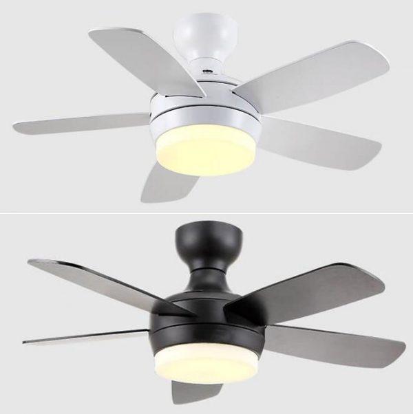 低樓底專用吸頂款式 總高35cm 木葉風扇燈吊扇黑色/白色/銀色42吋/48吋/52吋可選