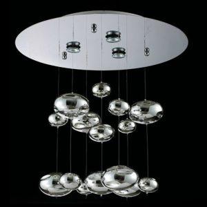 現代時尚設計金屬感玻璃球 吊燈 (只供工程訂做)
