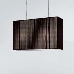 黑色方形布罩吊燈 (工程款式/ 非零售)