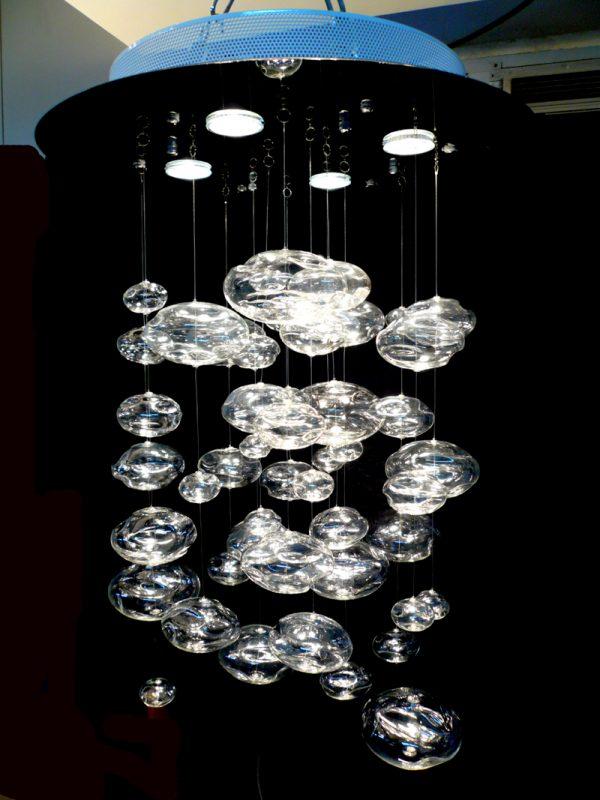 圓盤玻璃球吊燈 (只供工程訂做)
