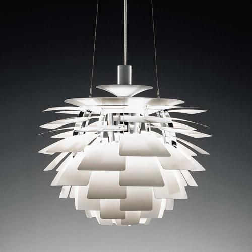 白色鋁材吊燈