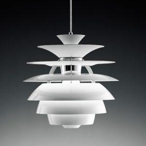 名師設計鋁材白色球型吊燈