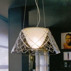 手工玻璃刻花吊燈