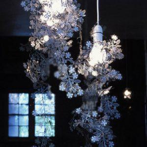 不銹鋼 花條造型 設計 吊燈
