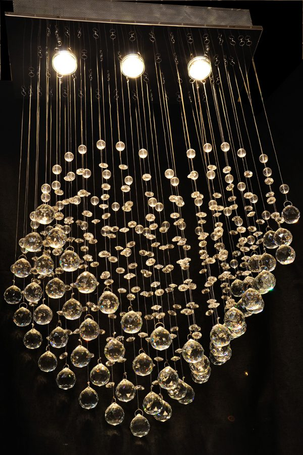 心形水晶造型吊燈 [工程用 多尺寸 可訂造]