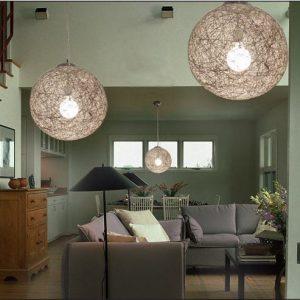 自然風格球型吊燈