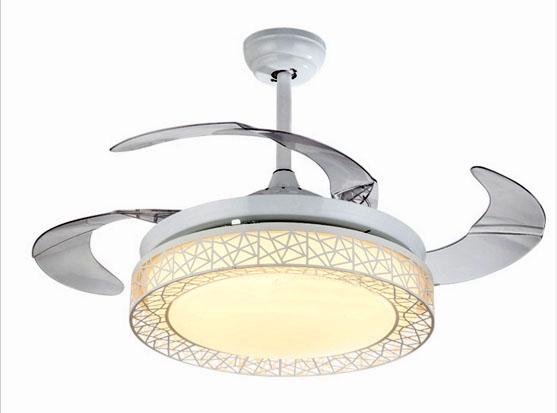 隱形風扇燈 可伸縮扇葉 36吋/42吋吊扇 黑色白色可選