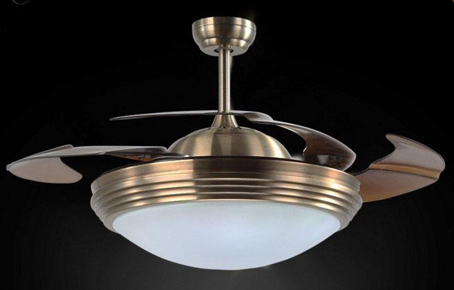 隱形風扇燈 可伸縮扇葉 簡約古銅色