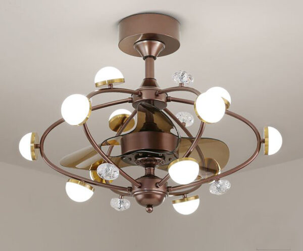 變頻風扇燈 簡約復古 LED 啡色 吊扇燈 6頭 10頭 可選 衛星系列