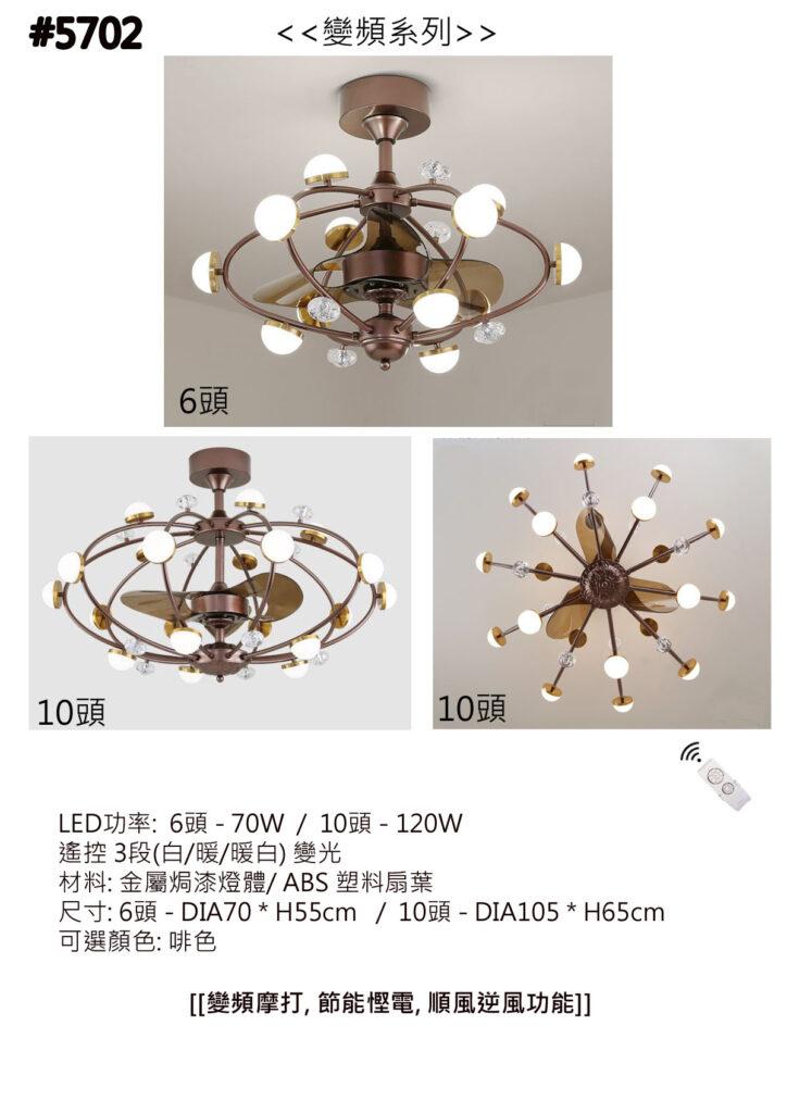 變頻風扇燈 簡約復古 LED 啡色 吊扇燈 衛星系列