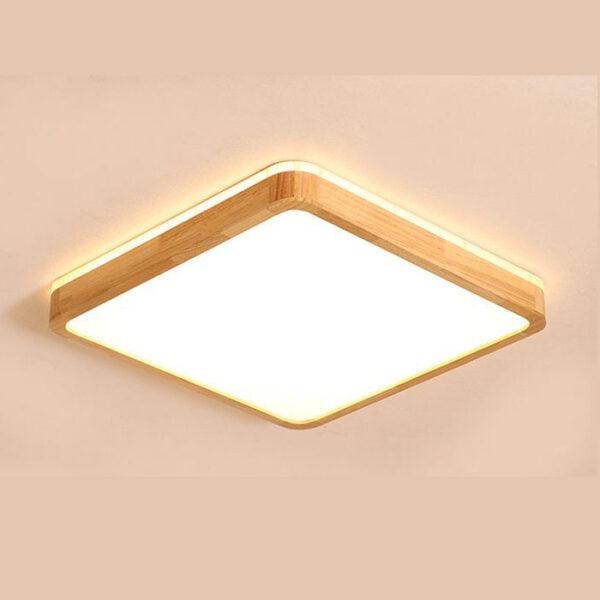 現代吸頂燈 正方形 和式原木製 大中小尺寸可選