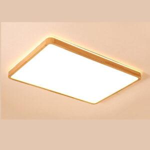 現代吸頂燈 長方形 和式原木製 大中小 尺寸可選