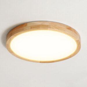 現代吸頂燈 圓形 和式原木製 大中小 尺寸可選