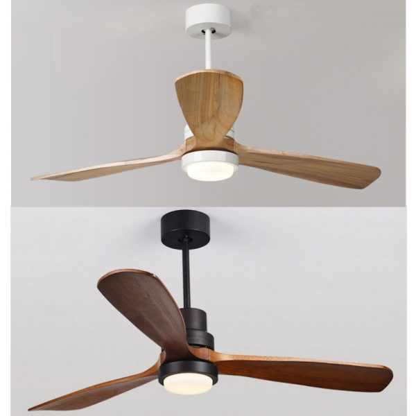 現代設計出口款式 大尺寸 實木葉 風扇燈 52吋 42吋 黑色 白色 可選 吊扇燈 Ceiling Fan